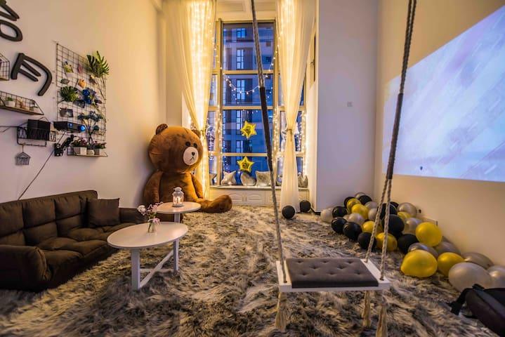 【繁间•拾月】满屋的地毯  可爱的大熊