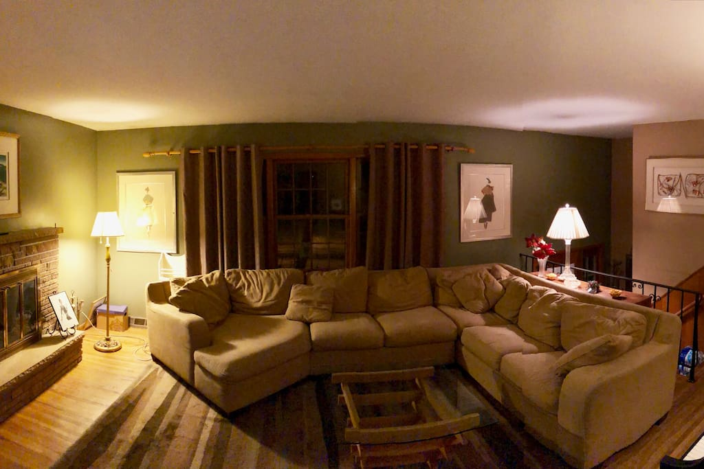 Panorama of the Living Room at Night