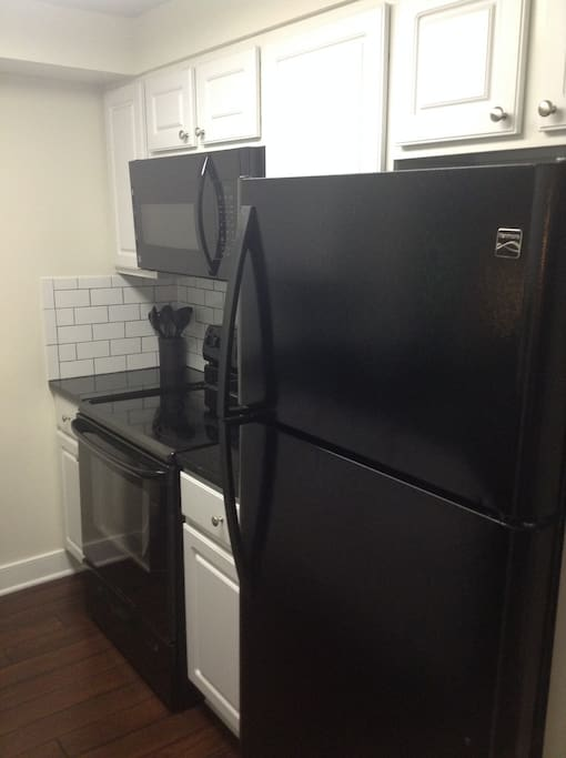 Electric stove, microwave and dishwasher included!