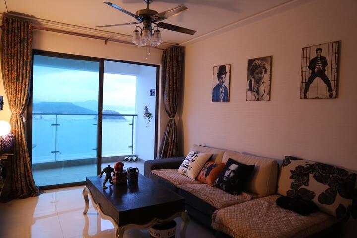 惠州无敌海景大床套房,海悦湾,十里银滩 Colorfully ocean view house.