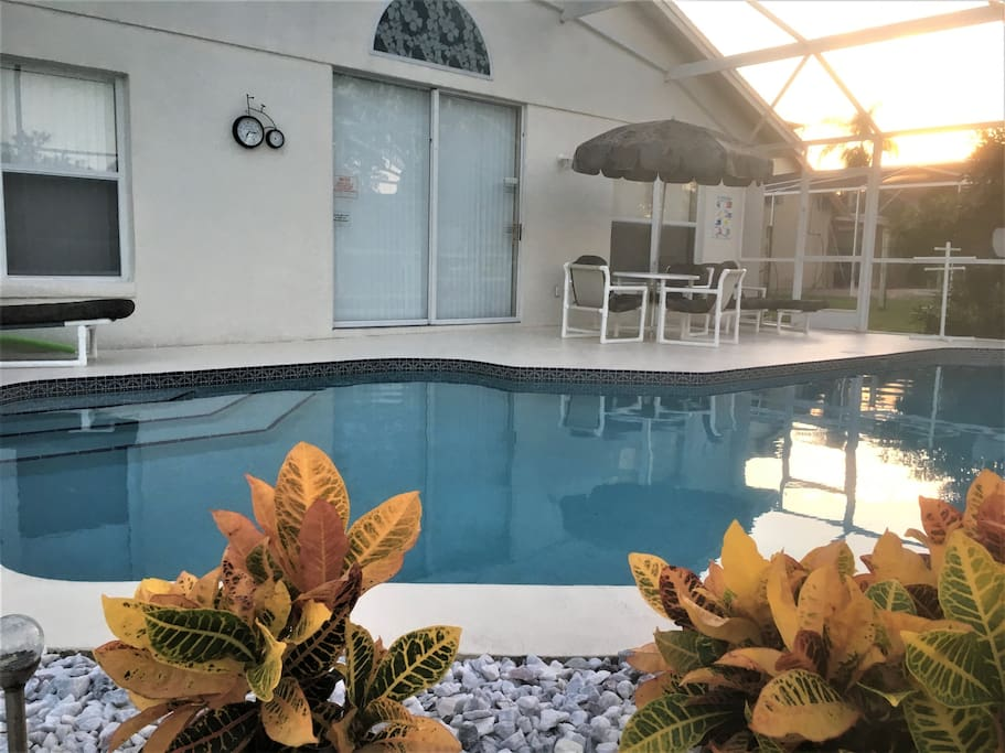 Picture yourself on the pool deck