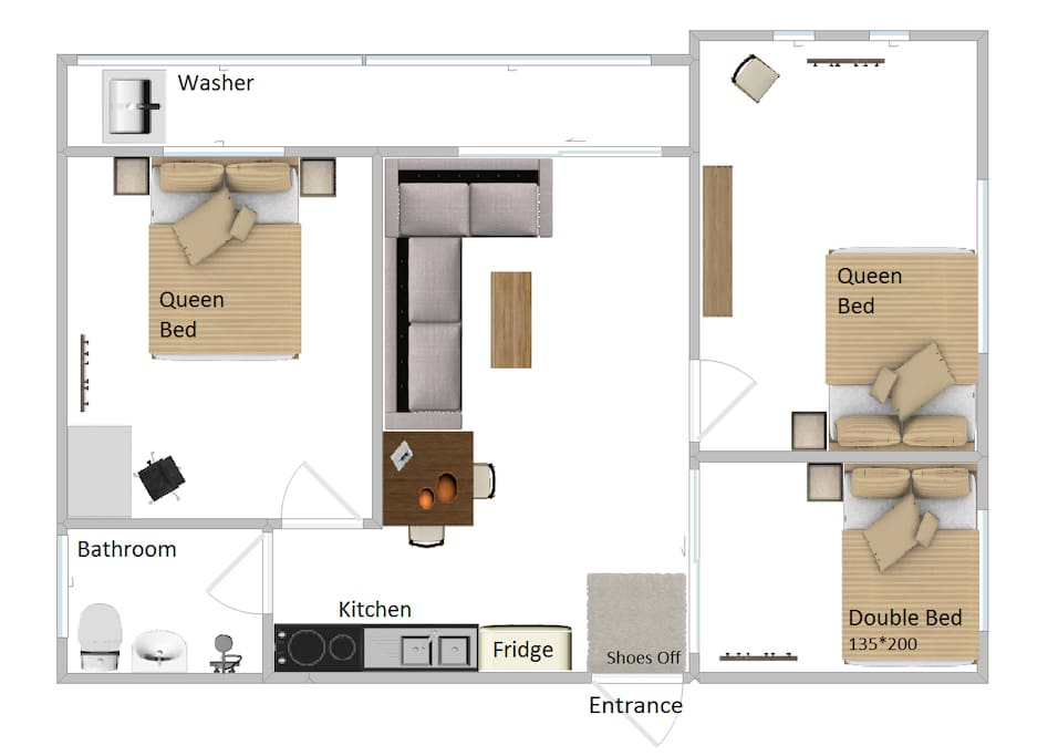 Layout of our apartment