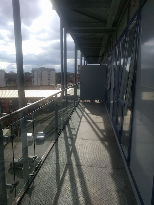 Full-length, south-facing balcony