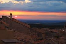 Sunset across Provence