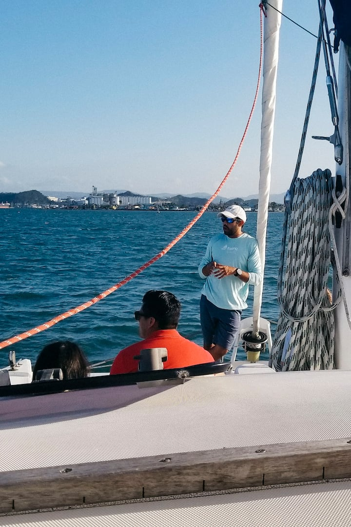 Capt. Francisco showing the sights