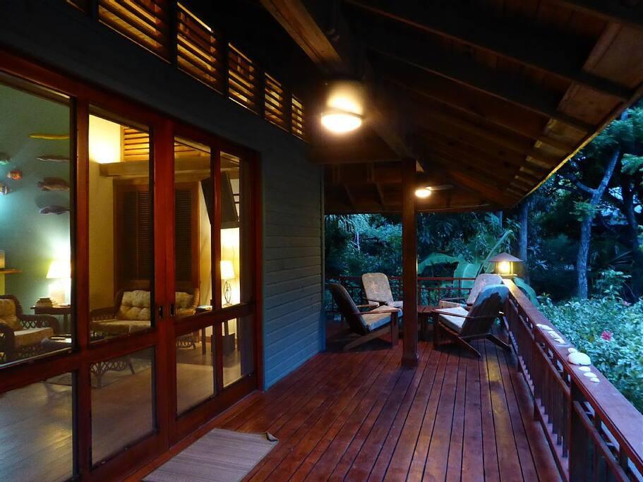 12 foot door to the front deck