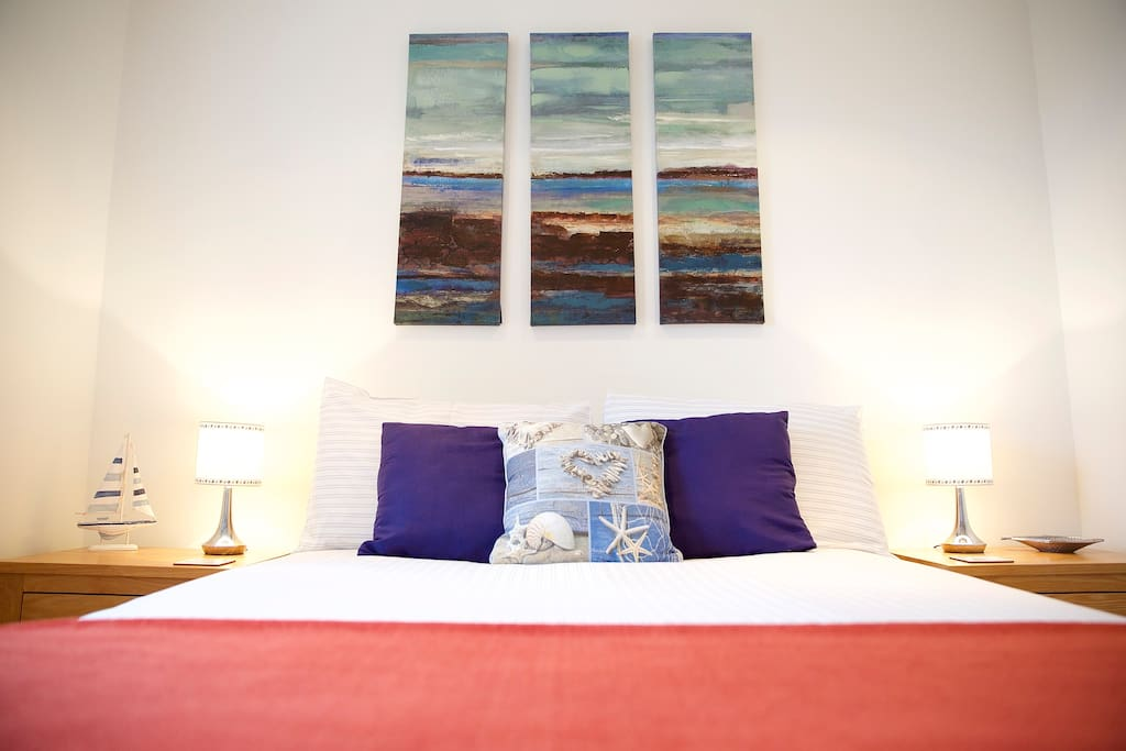 Master bedroom with en-suite and stunning sea views