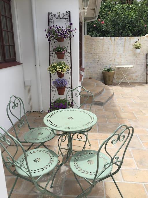 Breakfast nook on your patio