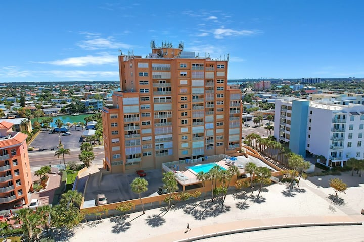 Stunning Gulf view condo w/shared heated pool just steps to the white sand!
