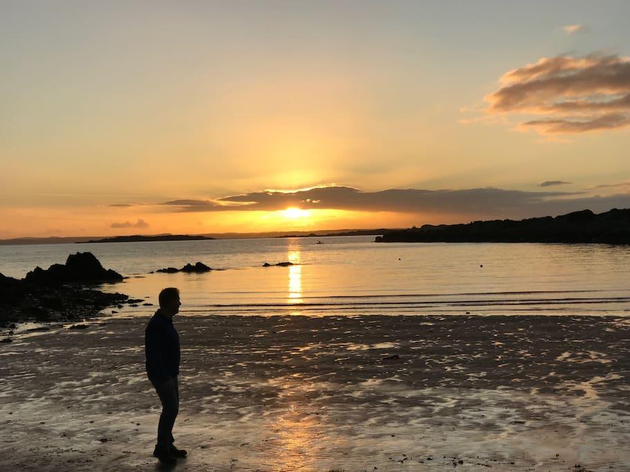 Carick beach - winter sunset