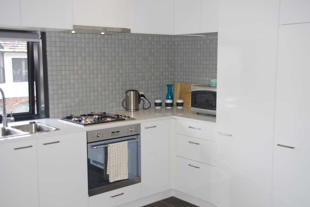 Bright and light kitchen with brand new SMEG appliances and everything you need to do some baking