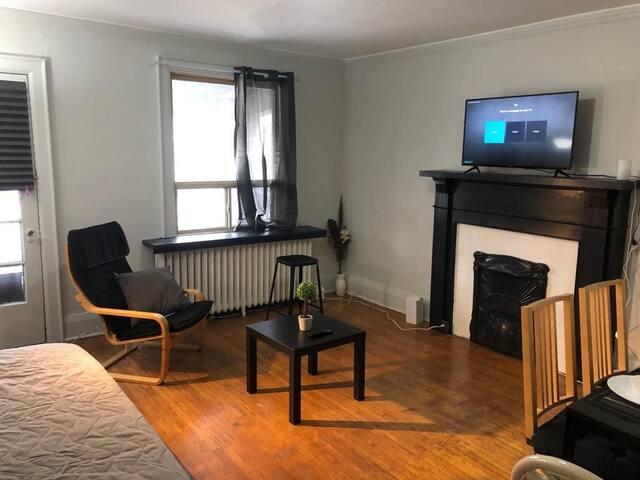 Fireplace apartment in Corso Italia