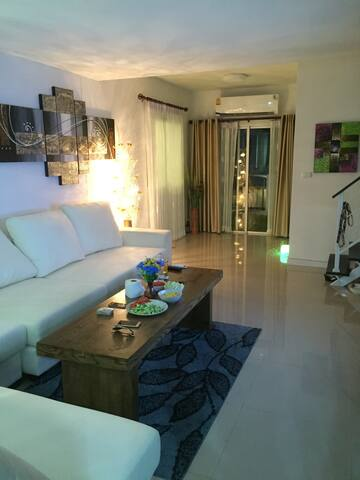 Livingroom with big and super comfortable sofa