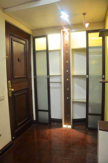 Main door and shoe rack
