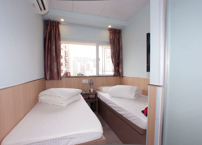 Cozy Twin Room@Mong Kok City Centre 旺角區舒適標雙房