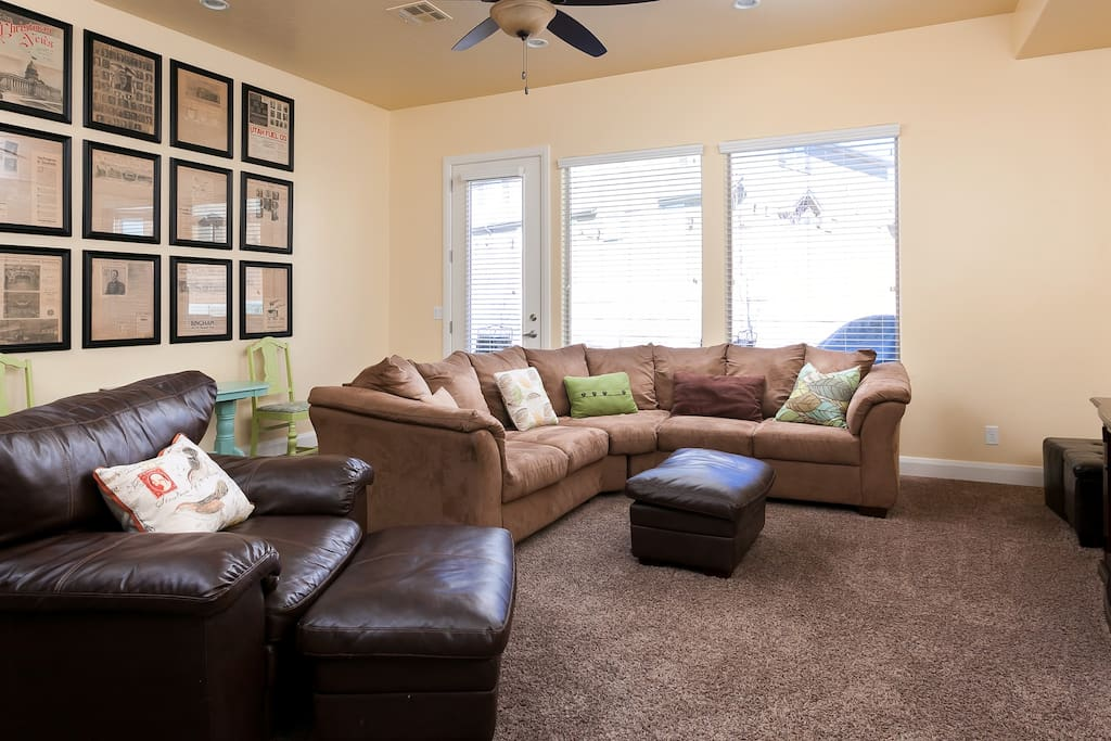 Living Room - walks out to patio & yard