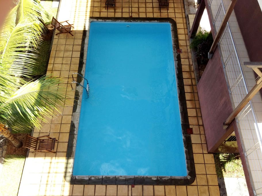 A truly tempting dive indeed, the immaculate swimming pool is usually all yours