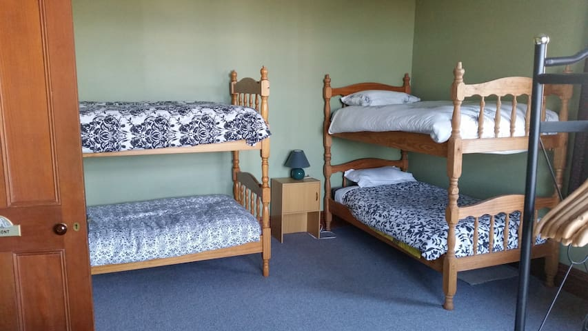 MT EGMONT ROOM - 6 beds.  2 bunk sets, 2 singles. All linen provided.