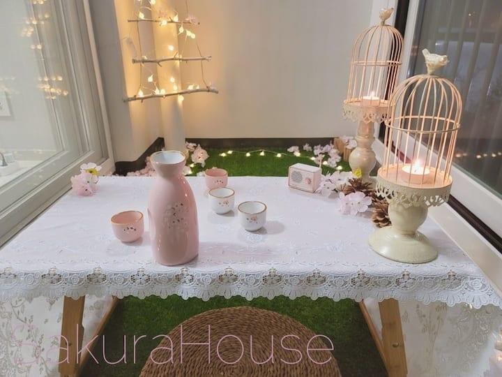 Sakura House]송파/미사/팔당/벚꽃 가득한/무드 있는 테라스의 복층 House