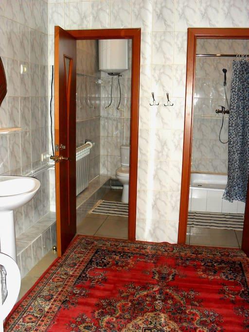 1к аппартамент Ванная комната