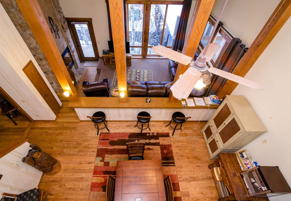 View from the loft, vary spacious and warm condo that has been updated!