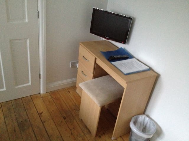 Small desk and TV