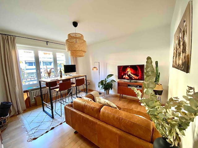modern & stylish city flat 2 min from Messe Basel