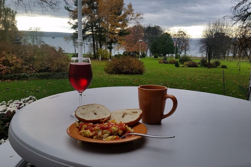 Breakfast on the property