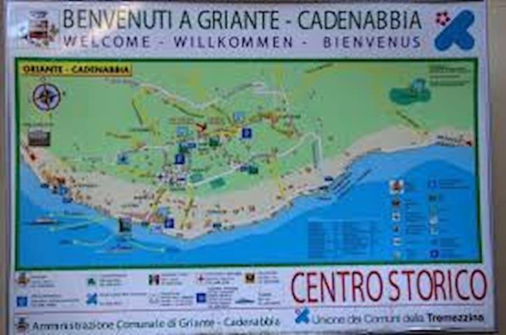 Mappa posizione Griante-Cadenabbia/Location map Griante -Cadenabbia