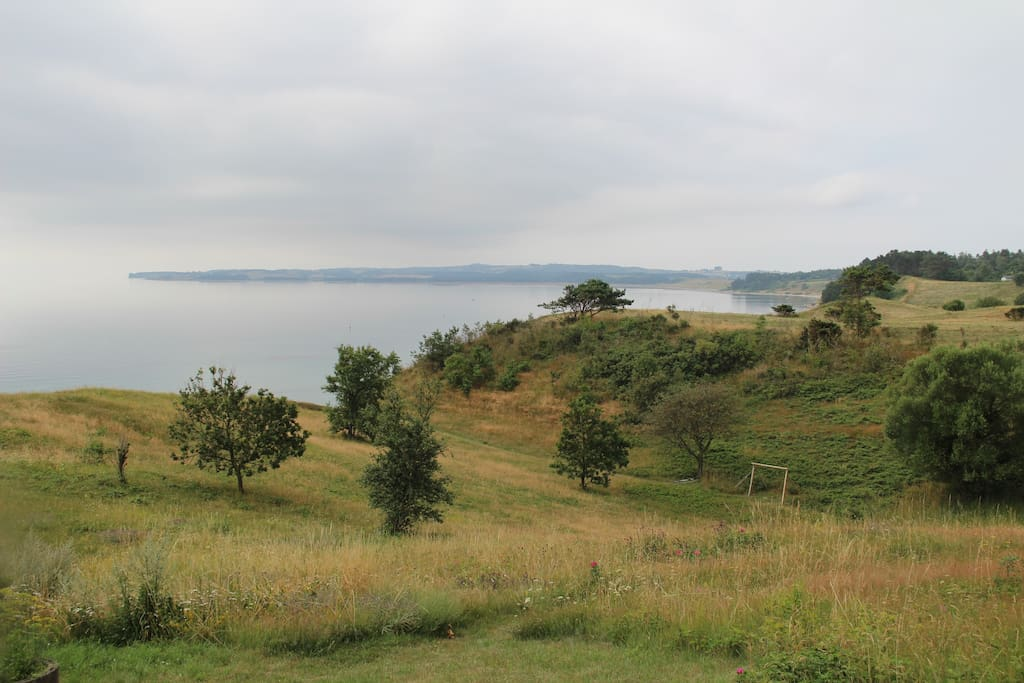 Overlooking the bay of Ebeltoft and the peninsula of Helgenæs