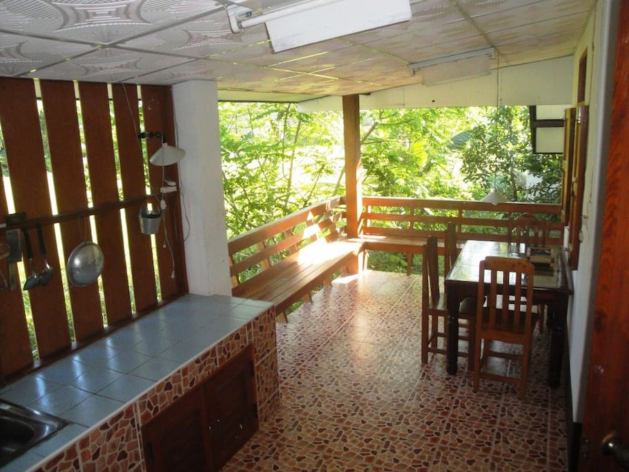Rear Balcony, Dinning Room, Big Chalet House