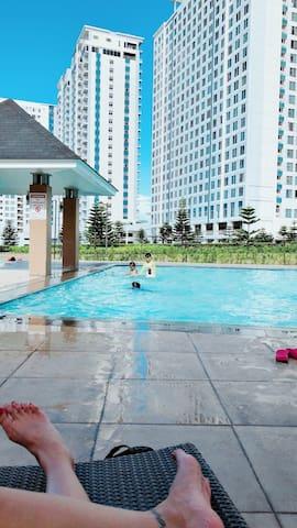 Outside Pool and Inside Pool