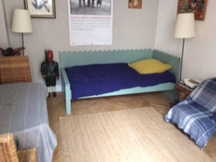Salon avec lit 1 personne