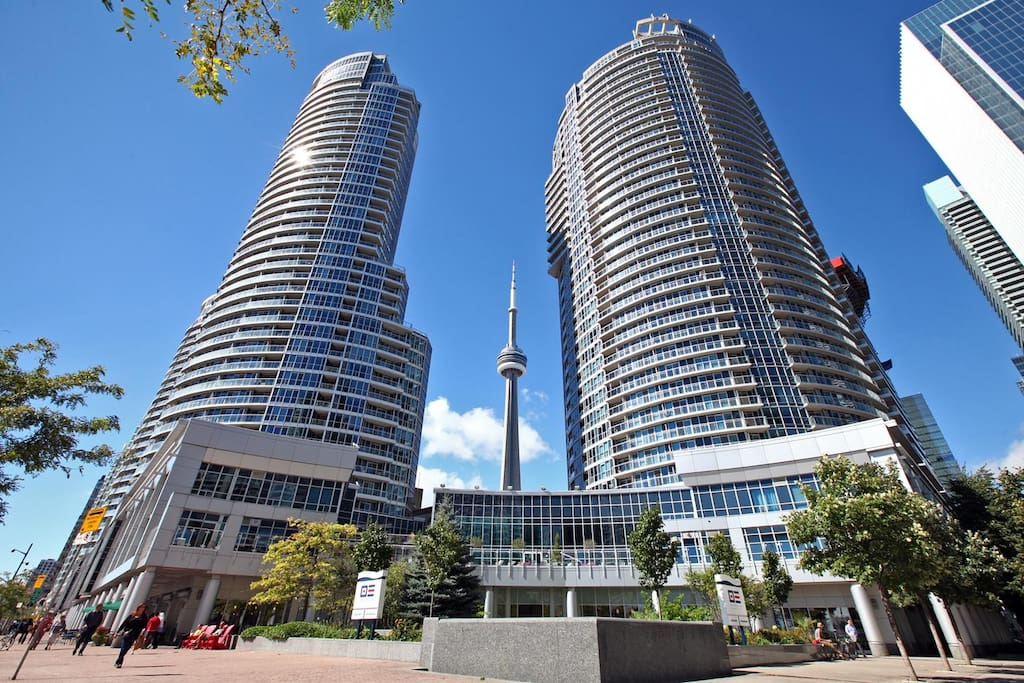 Prime waterfront location near Union Station, CN Tower, ACC, Rogers Centre, Centre Island