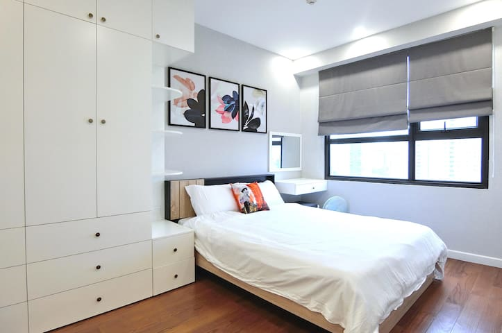 Light bedroom 1, closet, dressing table,...