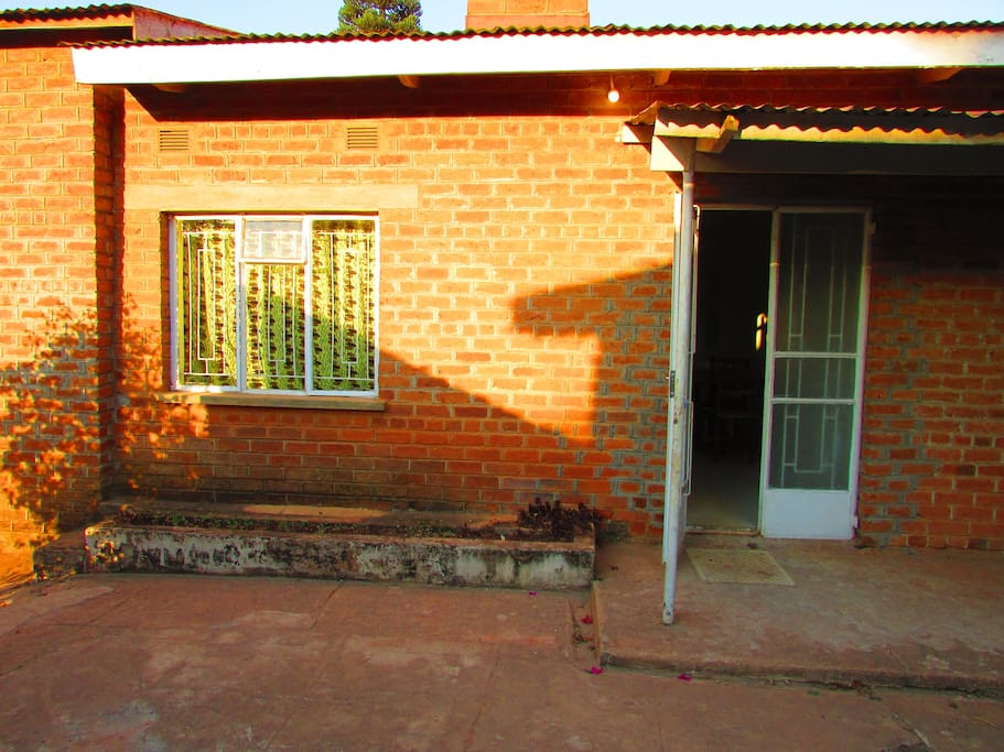 The entrance to our guesthouse