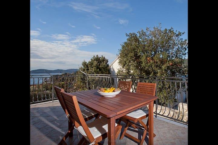 Large seaview balcony