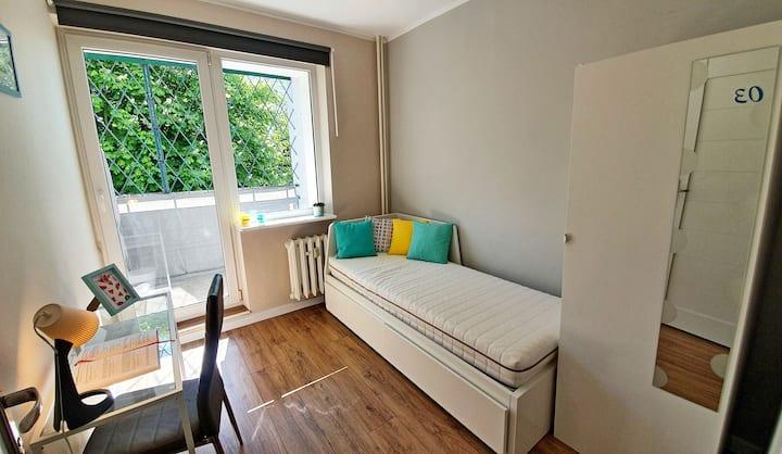 Pokój z łóżkiem podwójnym w świetnej lokalizacji