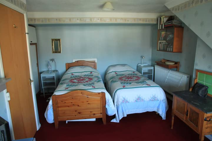 large airy room with private shower room.