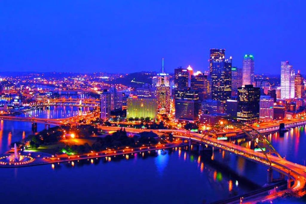 view of Pittsburgh from Grandview Ave