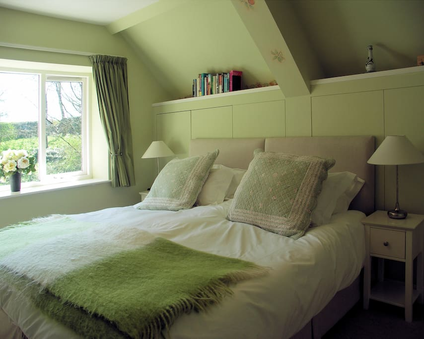 The Green Bedroom with super-king double bed
