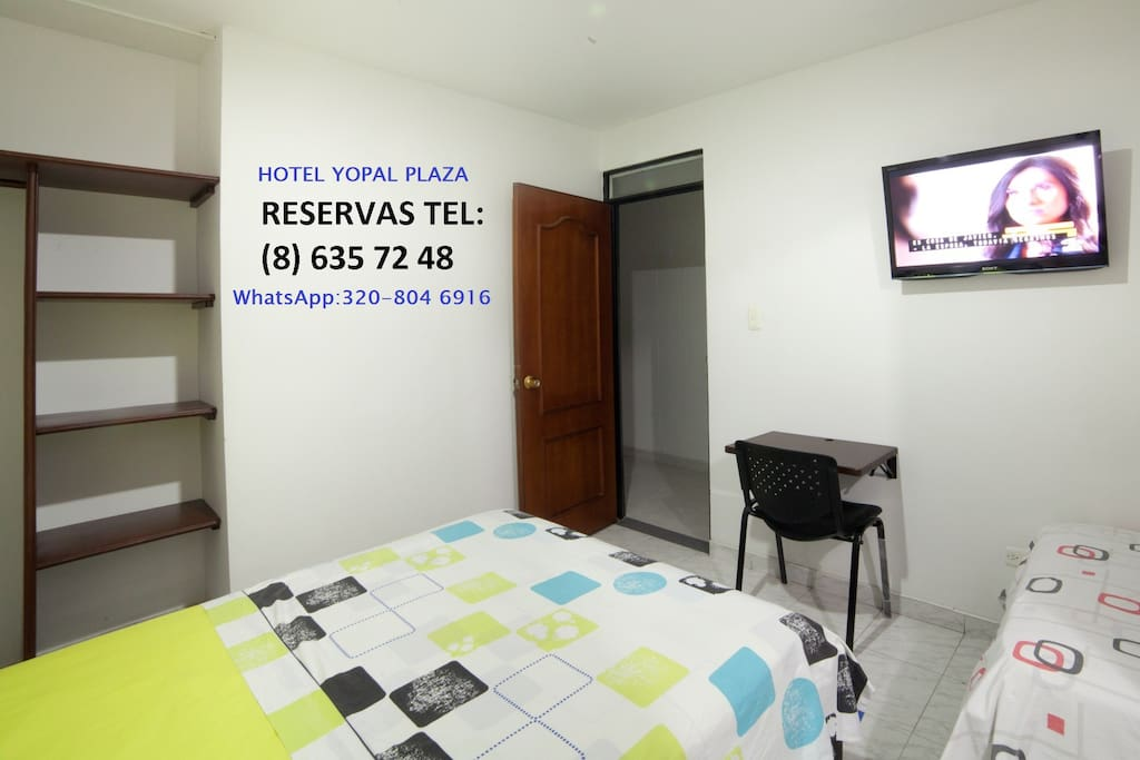 Habitacion cama doble ventilador tv wc privado casa - Tv en habitacion ...