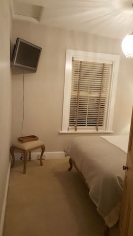 Guest bedroom from doorway