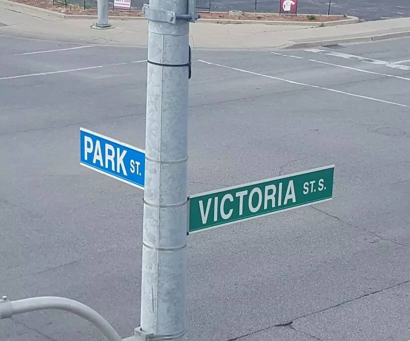 Located at the corner of Park and Victoria
