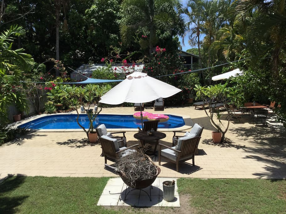 Relax in the private, tropical resort-style setting.... the entire ground floor, pool and garden is yours to enjoy!
