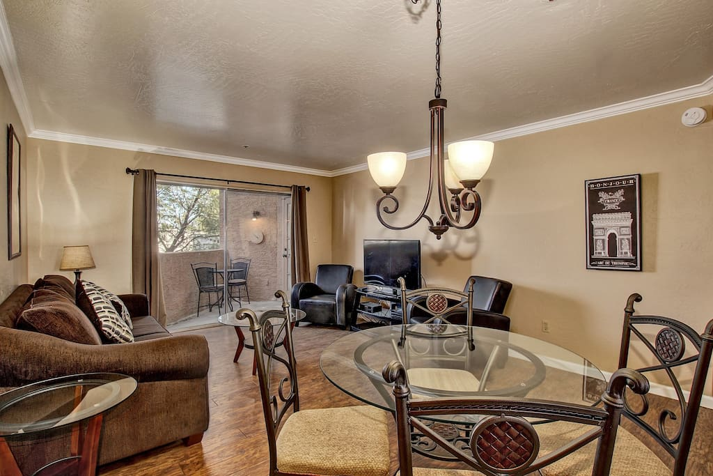 Amazing remodel with big screen TV..