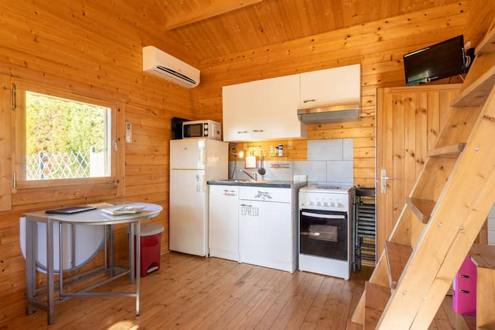 Gîte en bois dans le Lauragais, en Demi-Pension