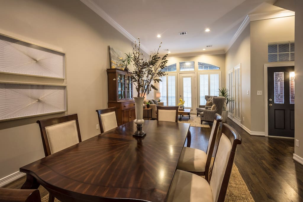 Lovely living and dining area with large balcony off the living area!