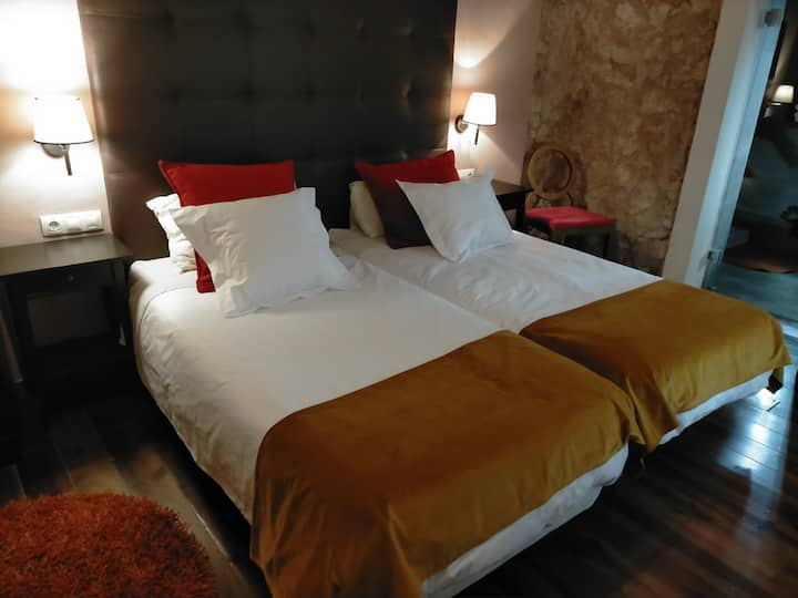 dormitorio Suite en alojamiento con mucho encanto