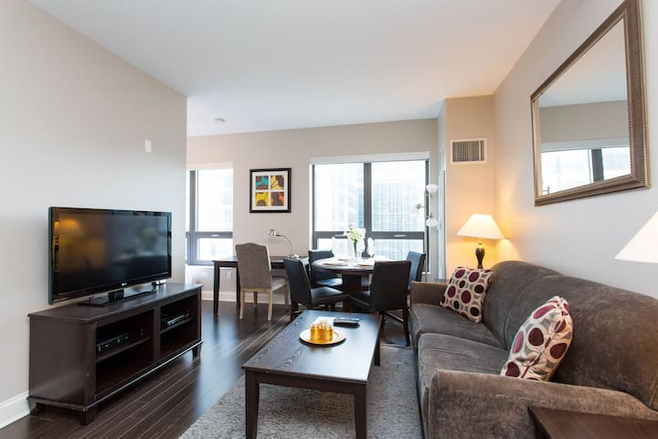 Extra Large Furnished Studio-RIVER NORTH CHICAGO
